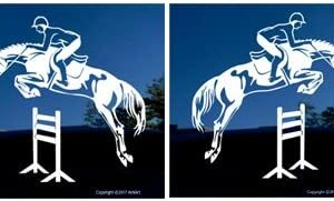 Jumping horses sticker.