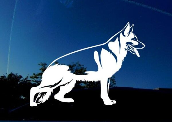 German Shepherd vinyl decal for cars, trucks, suvs. For dog lovers and animal enthusiasts.
