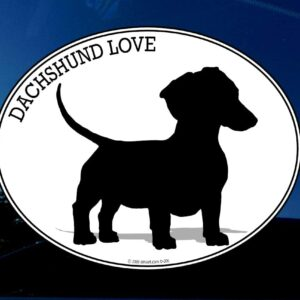 Daschund love decal.