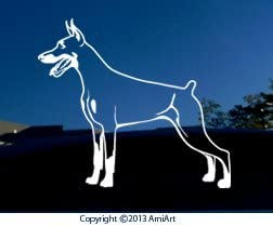 Doberman decal.