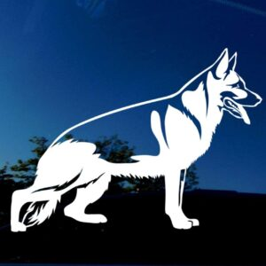 German shepherd decal.