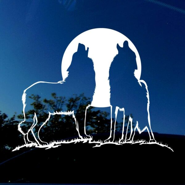 Howling wolves decal.