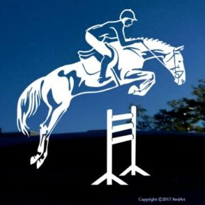 Horse jumping decal.