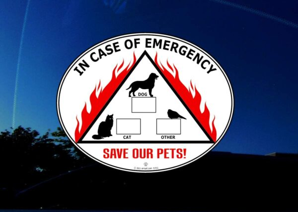 Pet alert decal.