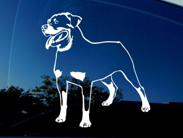 Rottweiler decal.